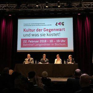 """Heute: Kongress der LAG Soziokultur im @bahnhof_langendreer_bochum. Diskutiert wird """"die Kultur der Gegenwart und was sie kostet""""."""